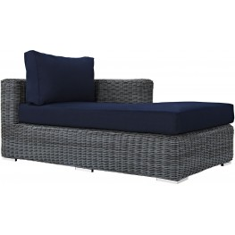 Summon Canvas Navy Outdoor Patio Sunbrella RAF Chaise
