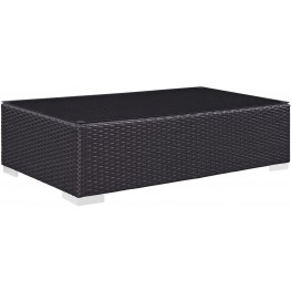 Convene Espresso Outdoor Patio Coffee Table