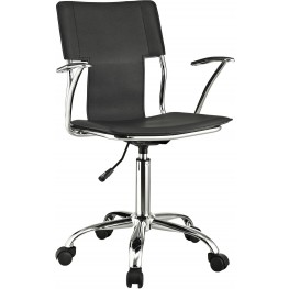Studio Office Chair in Black Vinyl