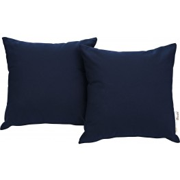 Summon Navy 2 Piece Outdoor Patio Pillow Set