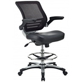 Edge Black Drafting Chair