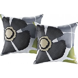 Modway Botanical Two Piece Outdoor Patio Pillow Set