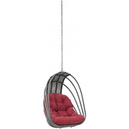 Whisk Red Outdoor Patio Swing Chair Without Stand