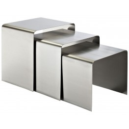 Rush Silver Nesting Table