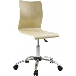 Plywood Swivel Office Chair in Natural