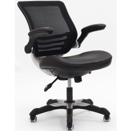 Edge Office Chair with Black Leatherette Seat