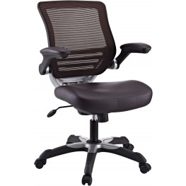 Edge Office Chair with Brown Leatherette Seat