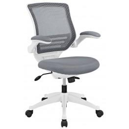 Edge Gray White Base Office Chair