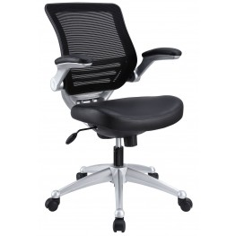 Edge Black Leather Office Chair