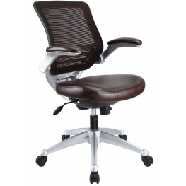 Edge Brown Leather Office Chair