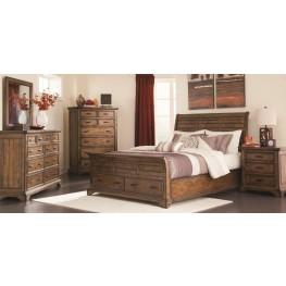 Elk Grove Vintage Bourbon Storage Sleigh Bedroom Set