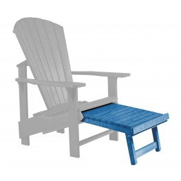 Generations Blue Upright Adirondack Chair Pull Out Footstool