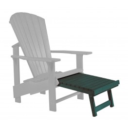 Generations Green Upright Adirondack Chair Pull Out Footstool