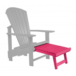 Generations Fuschia Upright Adirondack Chair Pull Out Footstool