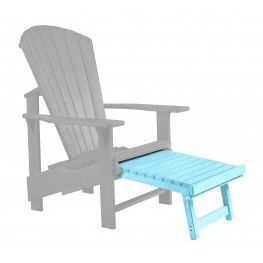 Generations Aqua Upright Adirondack Chair Pull Out Footstool