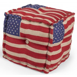 US Flag Pouf