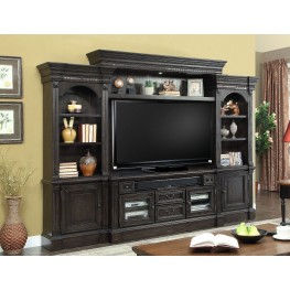 Fairbanks Vintage Burnished Black 4Pc Entertainment Wall
