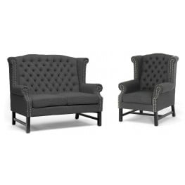 Fairfield Living Room Set with Loveseat and Club Chair
