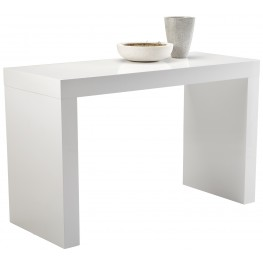Faro White High Gloss C-Shape Bar Table
