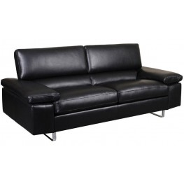 Fiona Black Leather Sofa