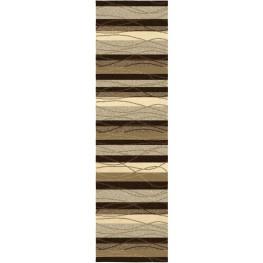 """Four Seasons Tonal Stripe Mink Runner 96"""" Rug"""