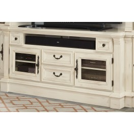 "Fremont Antique Burnished White 65"" TV Console"