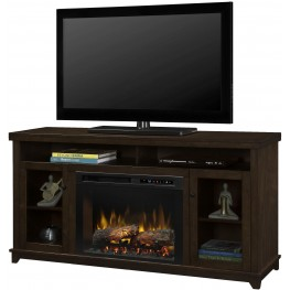 Dupont Kingston Brown Media Console with Realogs XHD Firebox