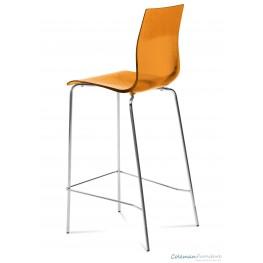 Gel Transparent Orange Stool Set of 2