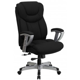 Hercules Series Big & Tall Black Fabric Executive Swivel Office Chair With Adjustable Arms (Min Order Qty Required)