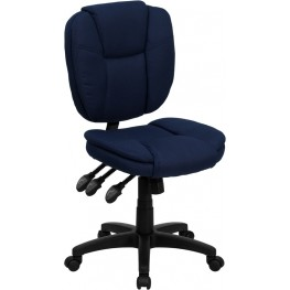 Navy Blue Multi Functional Ergonomic Task Chair