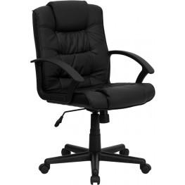 Eco-Friendly Black Plush Executive Office Chair