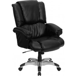 Black Over Stuffed Executive High Back Office Chair
