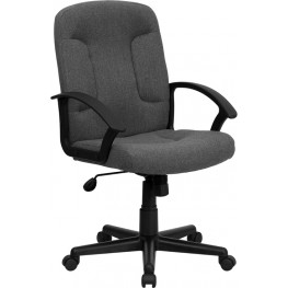 Gray Task and Computer Chair with Nylon Arms