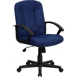 Navy Task and Computer Chair with Nylon Arms