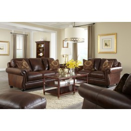 Charleston Hazelnut Antique Espresso Living Room Set
