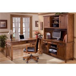 Cross Island Credenza w/ Hutch Home Office Set