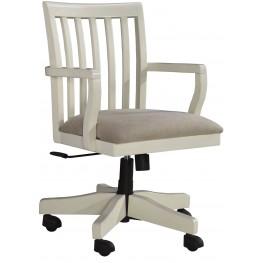 Sarvanny Cream Home Office Desk Chair