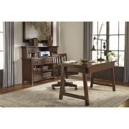 Wassner Dark Brown Home Office Set