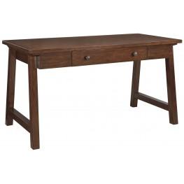 Wassner Dark Brown Home Office Large Leg Desk