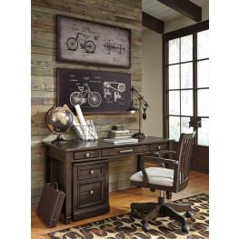 Townser Grayish Brown Home Office Set