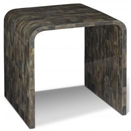 Hayden Black Horn End Table