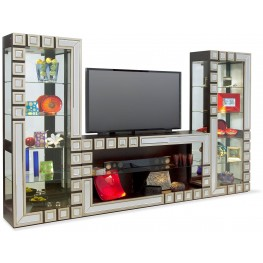 Halo Aries Silver And Ebony Entertainment Wall