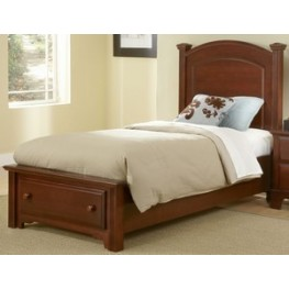 Hamilton/Franklin Cherry Twin Panel Storage Bed