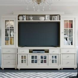 3526206971e6 Hampton Antique White Entertainment Center · by Renegade Furniture