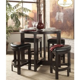 Brussel 5 Piece Counter Height Dinette Set