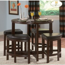 Brussel II 5 Piece Counter Height Dinette Set