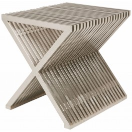 Amici Prague Stainless Metal Side Table
