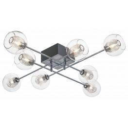 Estelle 8 Glass Metal Ceiling Light