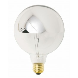 G50 Chrome Glass Light Bulb
