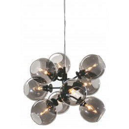 Atom 9 Smoke Grey Glass Pendant